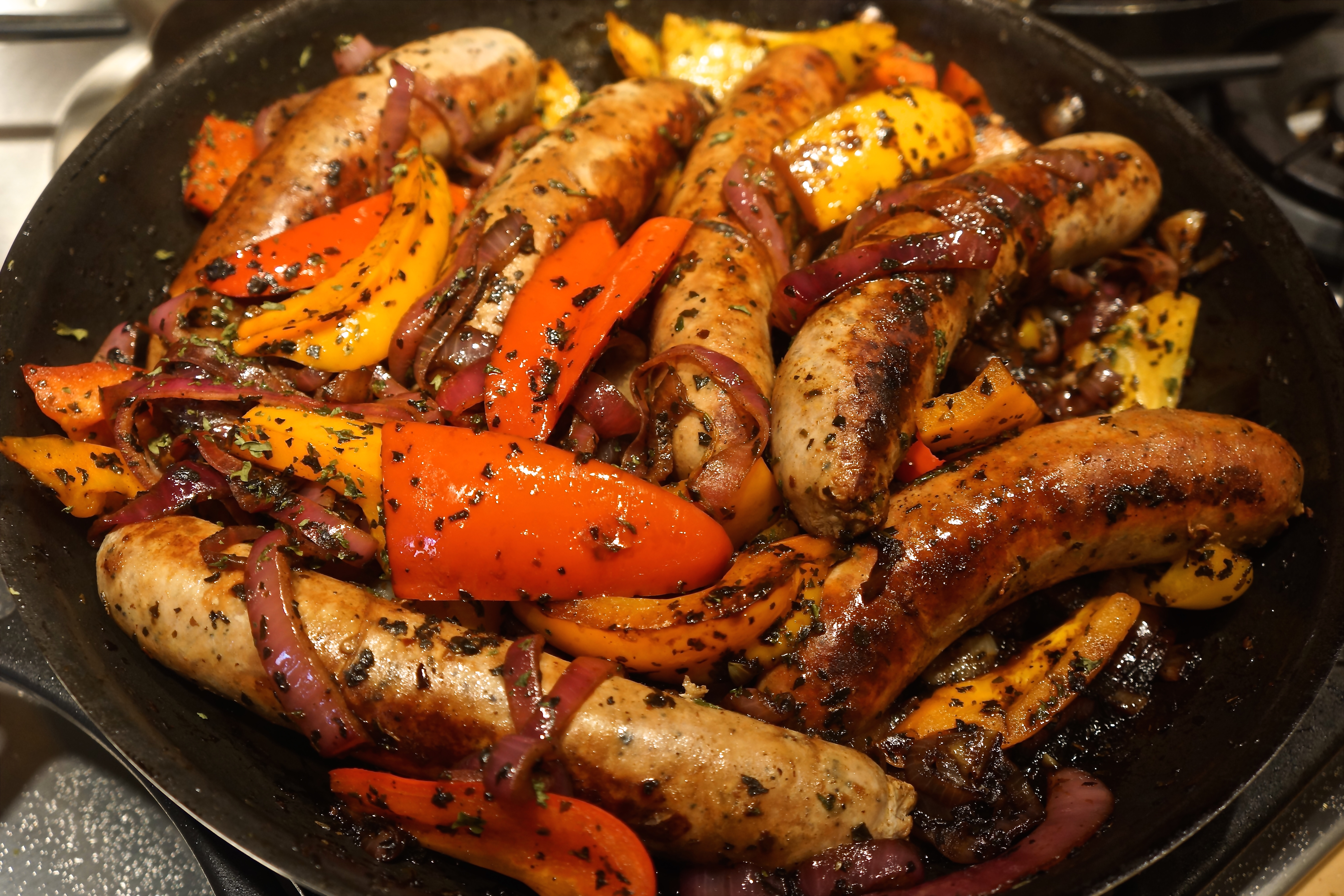 Italian Sausages & Peppers
