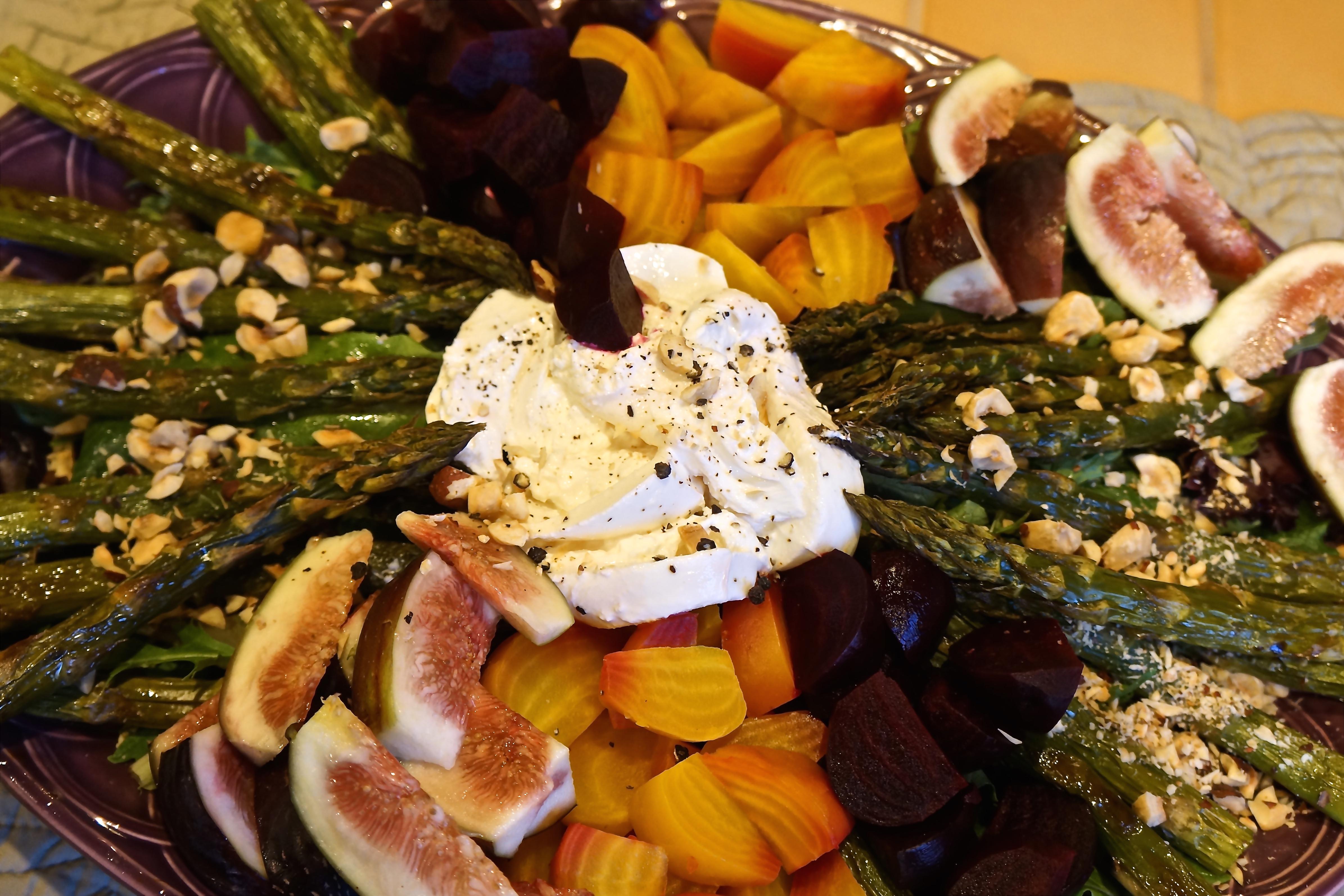 Roasted Vegetable Salad with Hazelnut Vinaigrette.