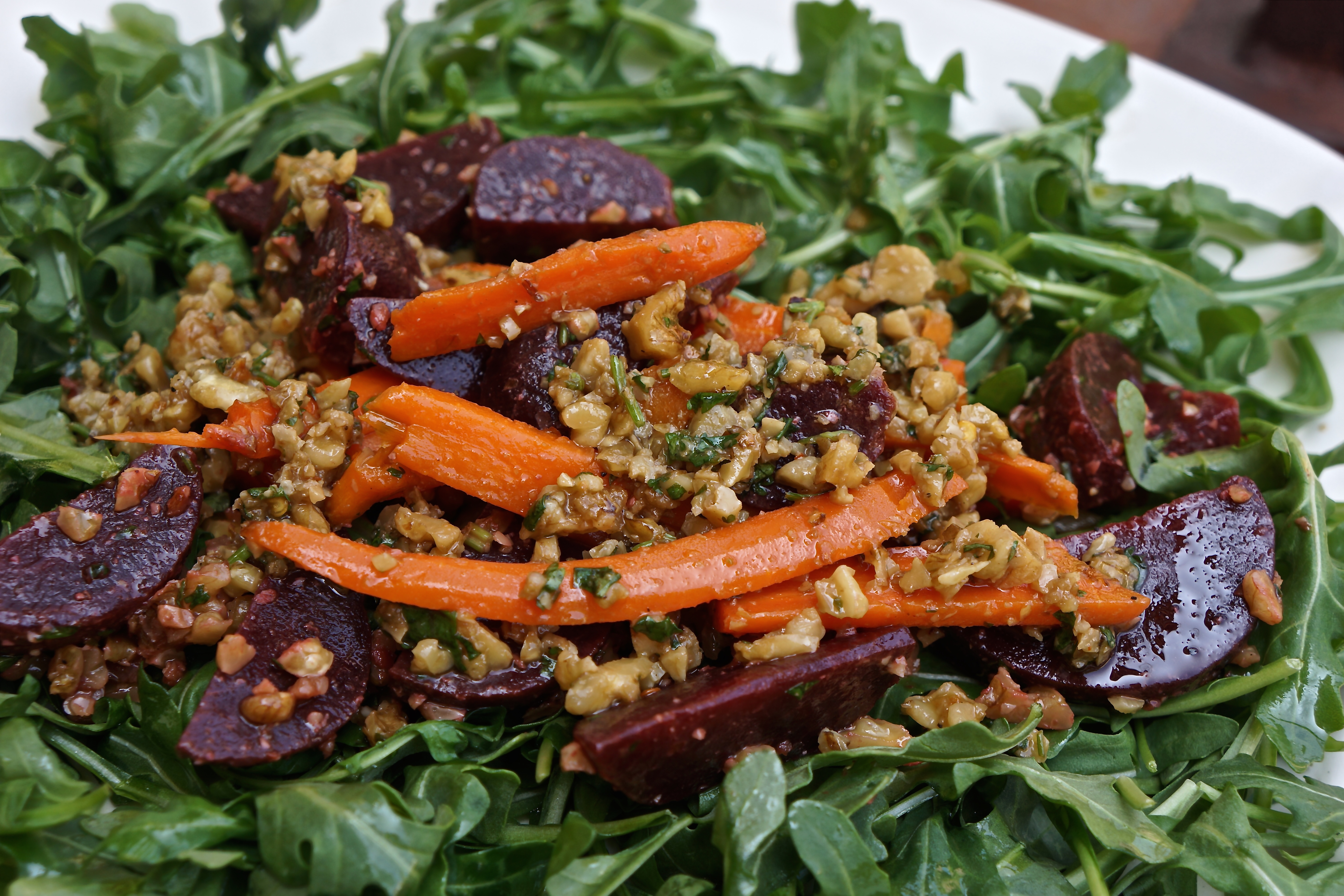 Spicy Walnut, Beet & Carrot Salad