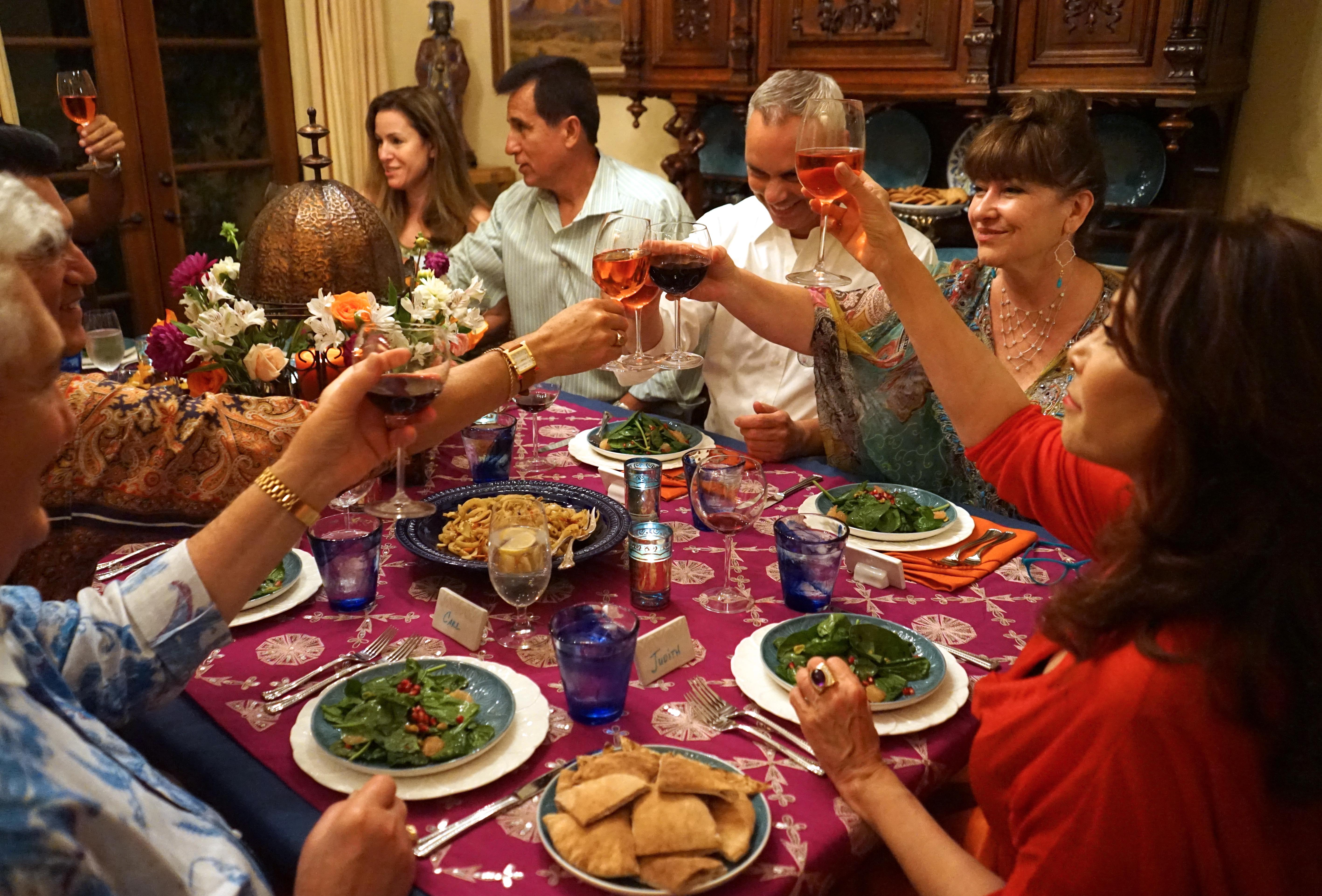 A toast, everyone! A toast!