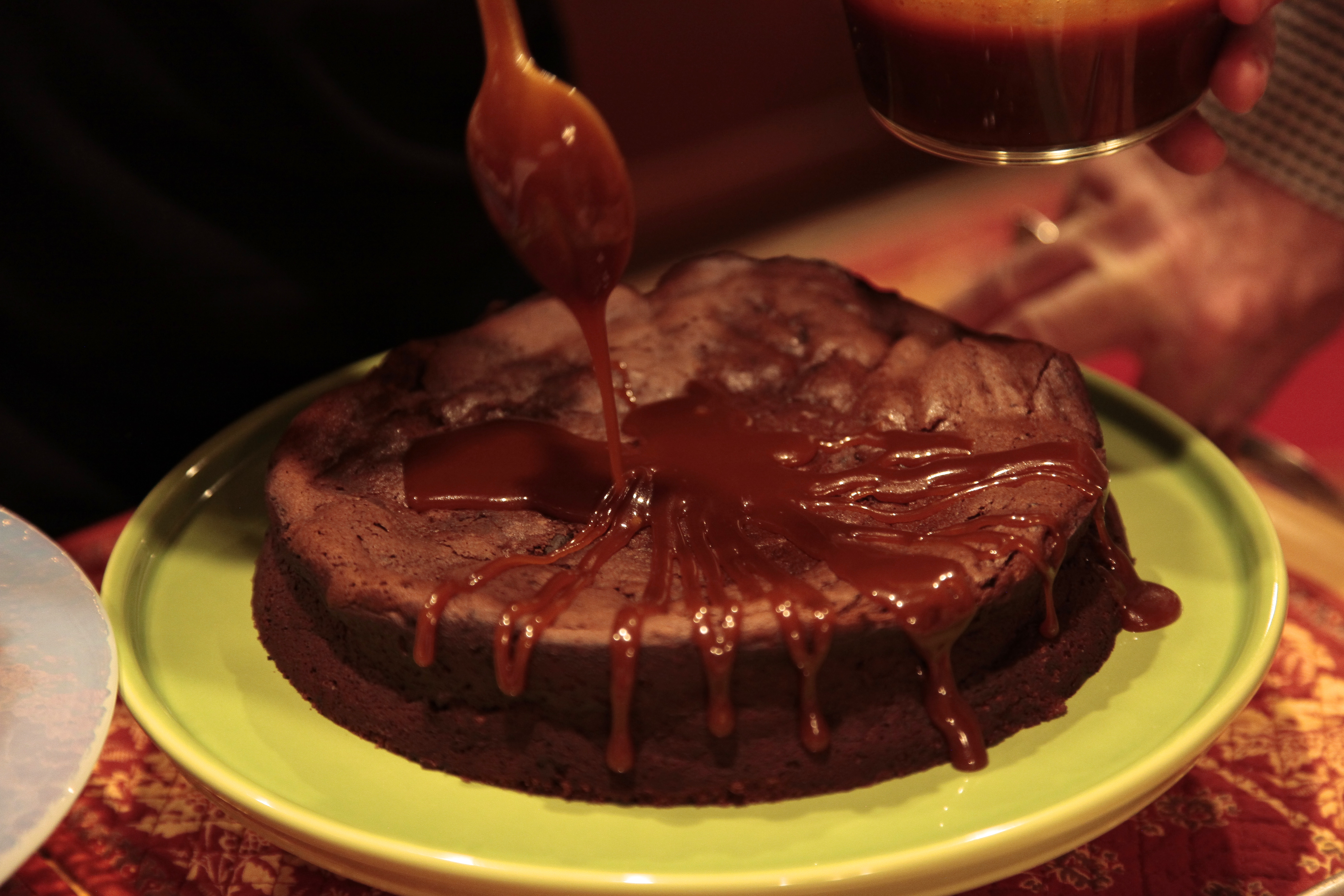The Chocolate Prune Cake: YUMMY! (No further caption needed.)