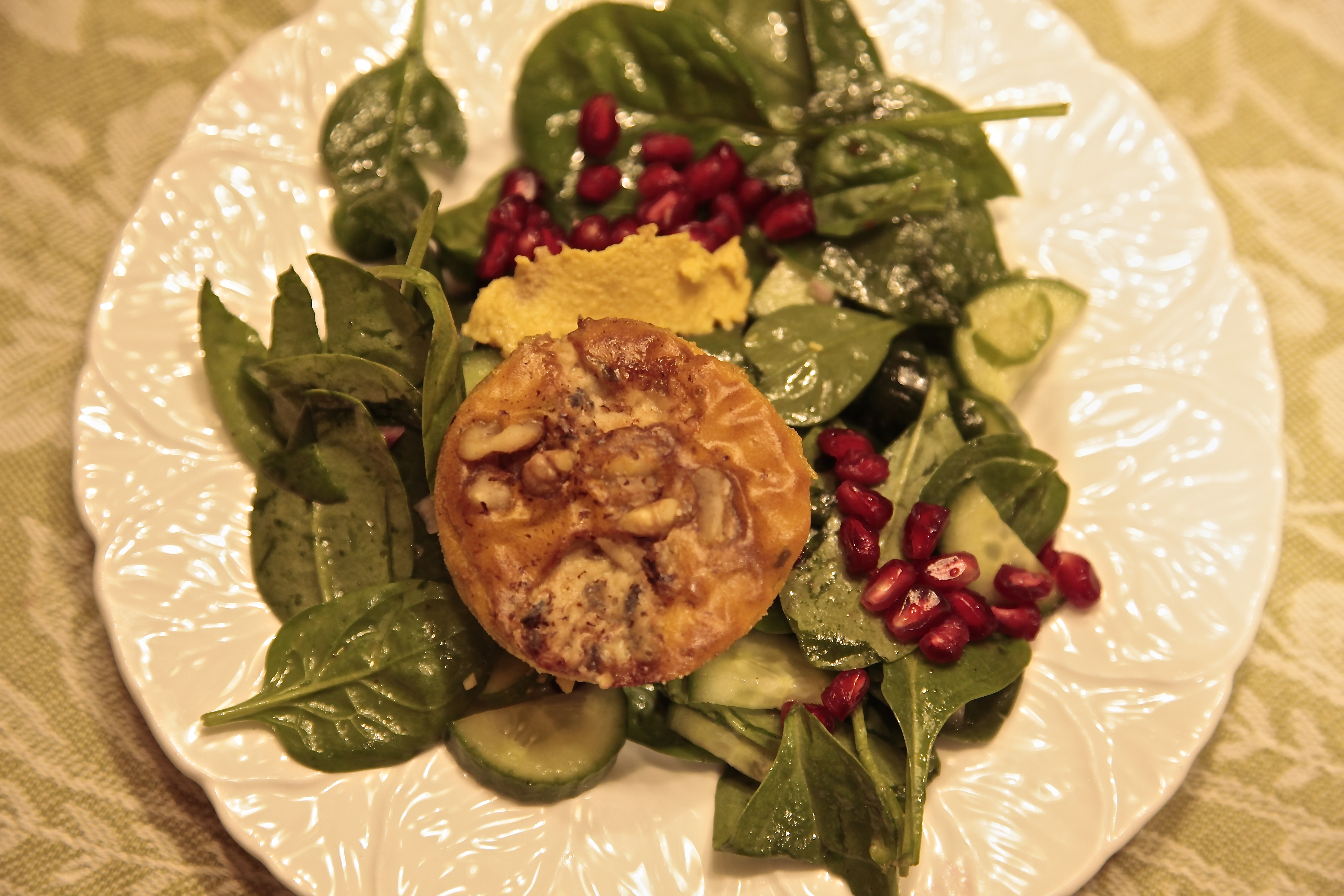I updated the traditional dishes with Savory Pumpkin Custards.