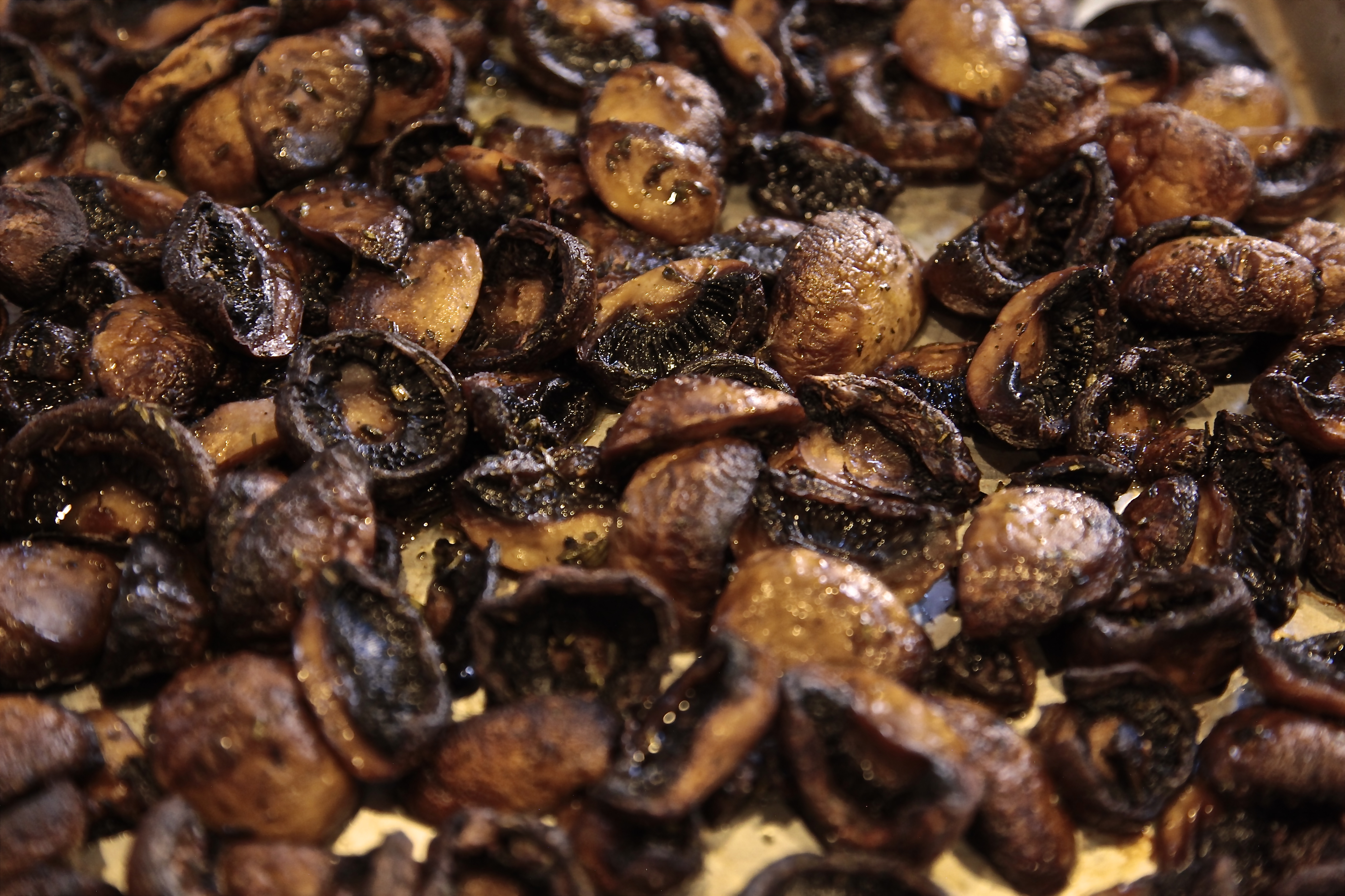 Roast approximately 15 minutes until mushrooms are completely cooked.
